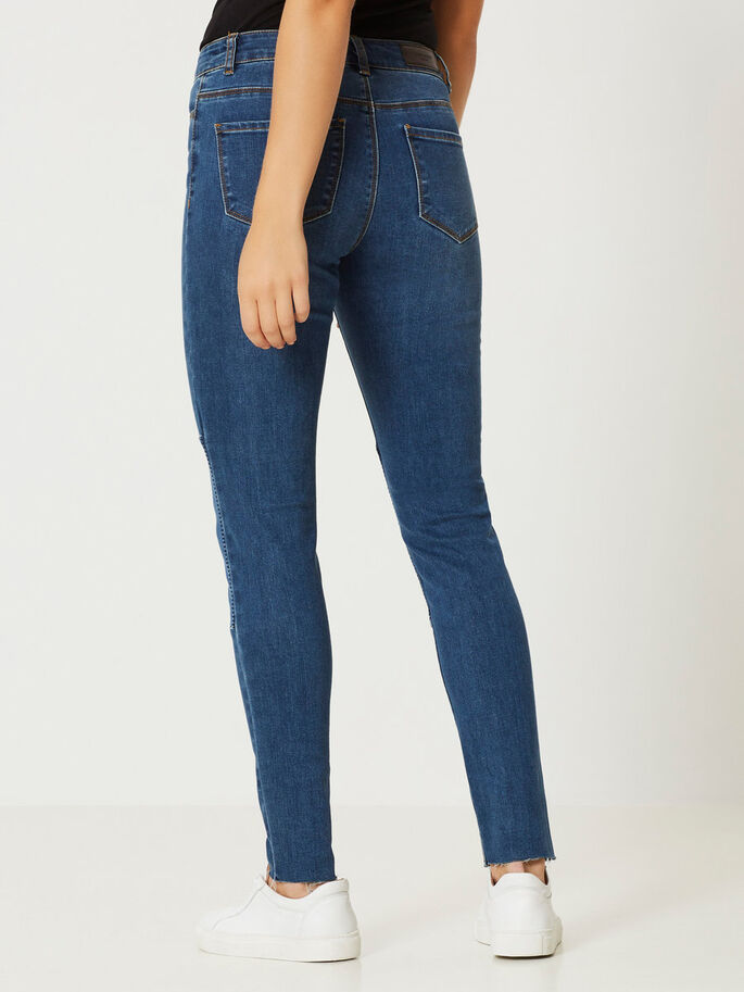 SEVEN NW ANKLE SKINNY FIT JEANS, Dark Blue Denim, large