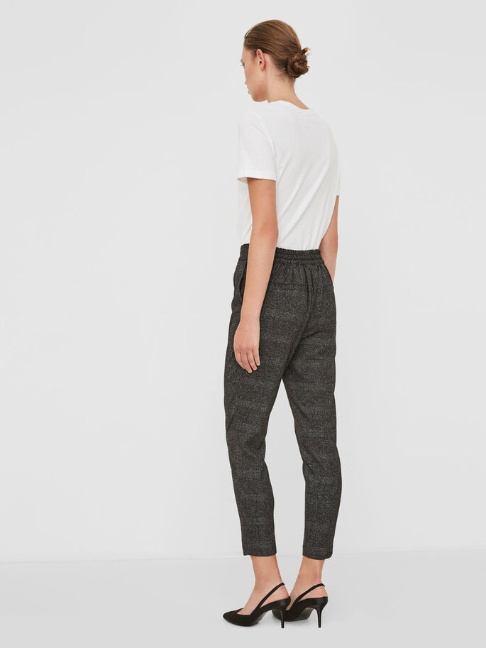 CHEQUERED RORY TROUSERS, Dark Grey, large
