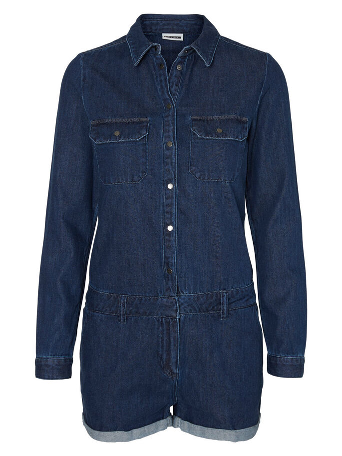 FARKKUKANKAINEN HAALARI, Dark Blue Denim, large