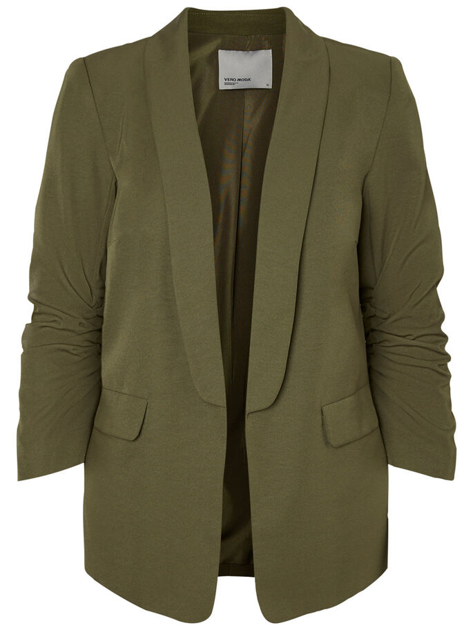 7/8 SLEEVED BLAZER, Ivy Green, large