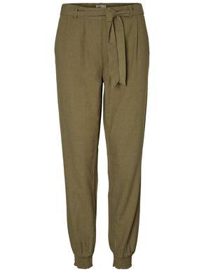LINEN ANKLE TROUSERS