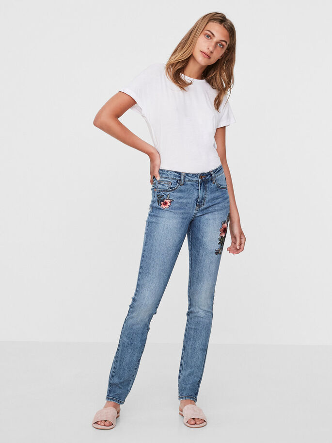 ADELE NW SKINNY JEANS, Medium Blue Denim, large