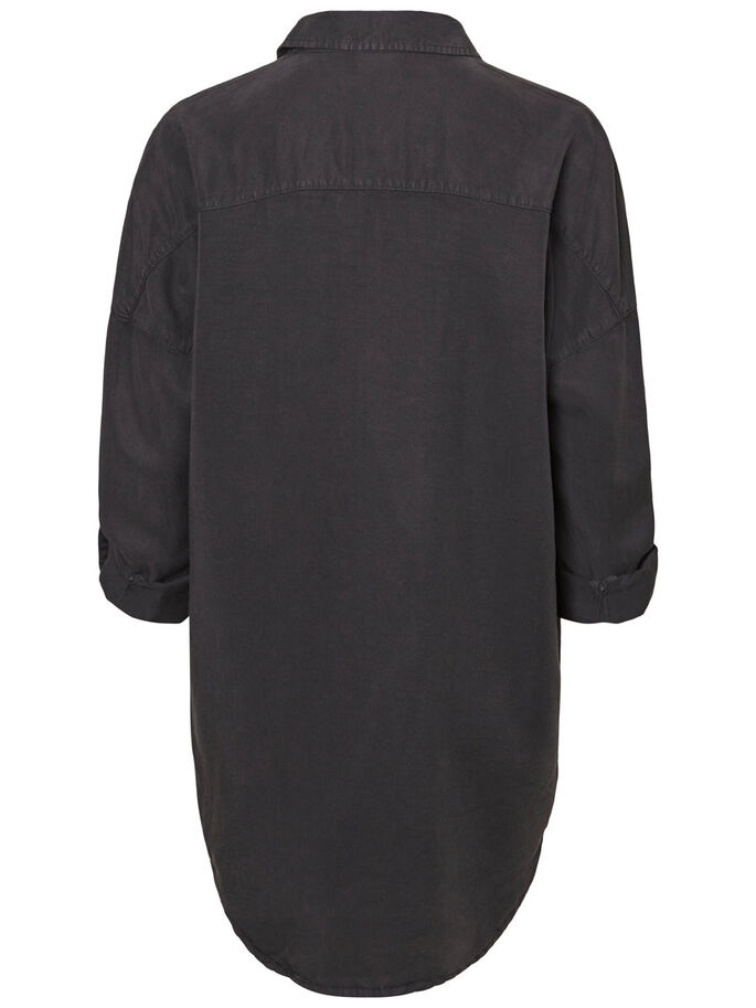 OVERSIZE- HEMD, Black, large