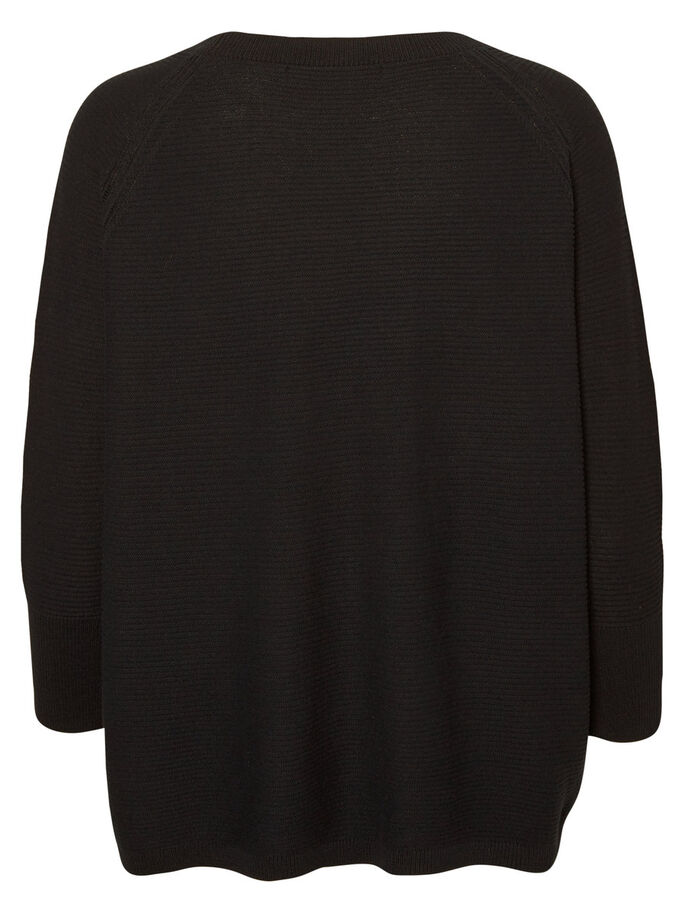 JERSEY PULLOVER, Black, large