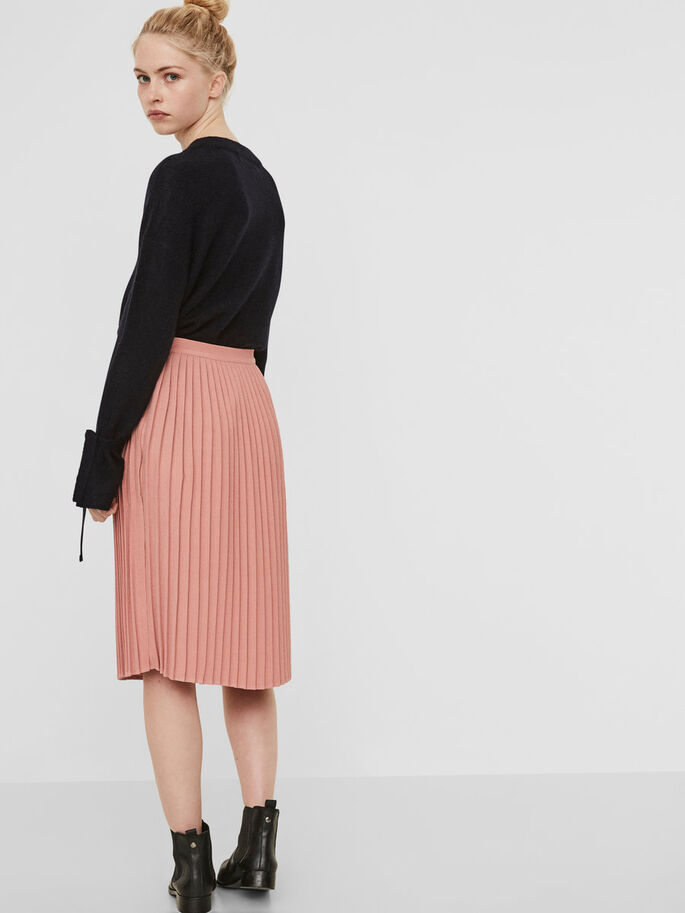 PLEATED SKIRT, Ash Rose, large