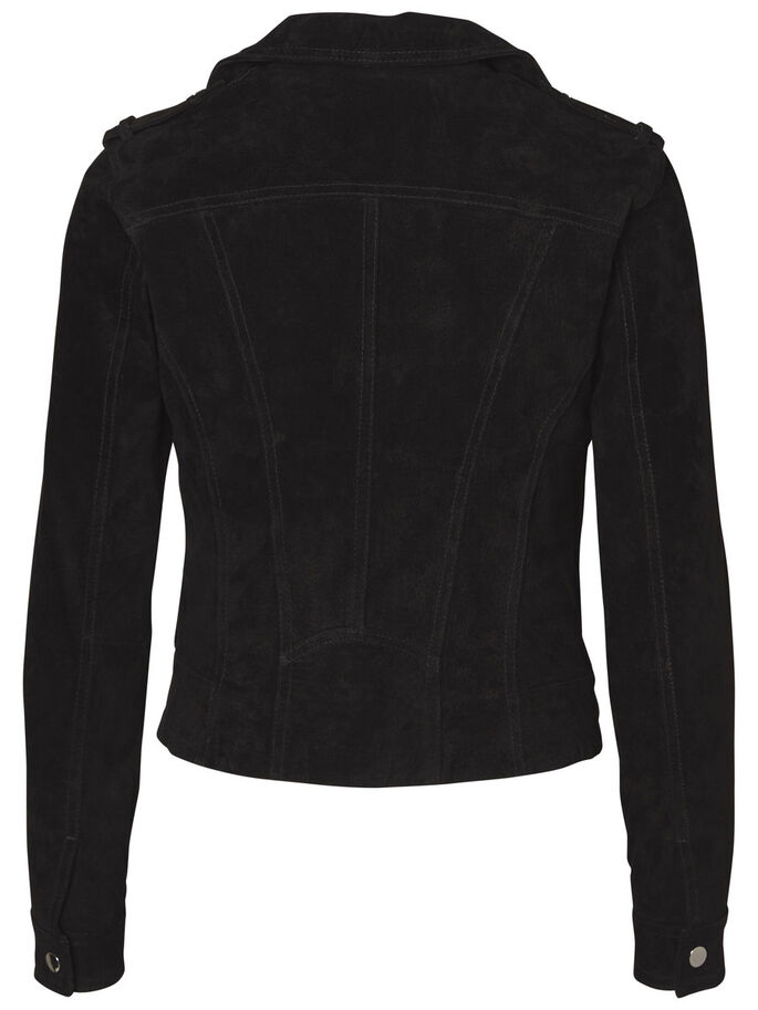 SUEDE JACKET, Black, large
