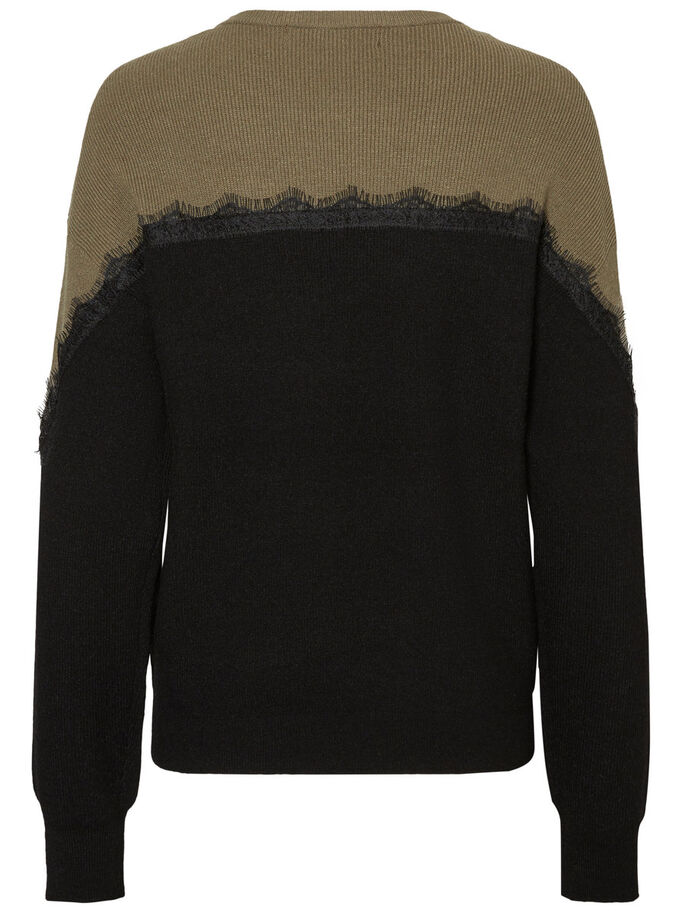 LACE PULLOVER, Black, large
