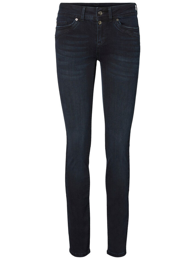 TAMMI NW STRAIGHT FIT JEANS, Black, large