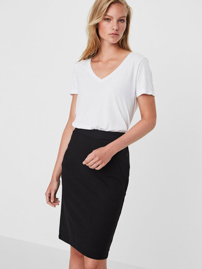 HW PENCIL SKIRT, Black, large