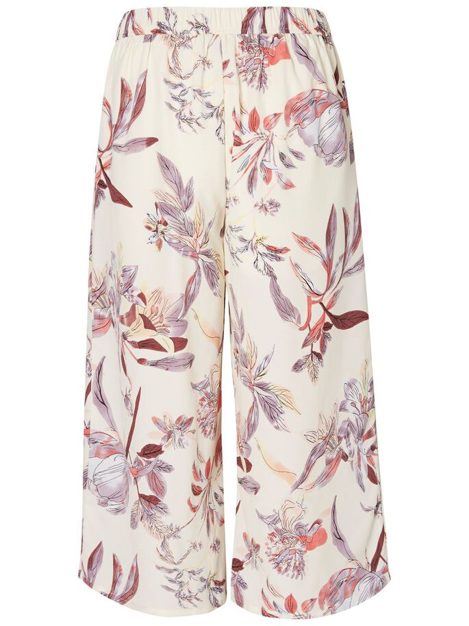 FLOWER CULOTTE TROUSERS, Snow White, large