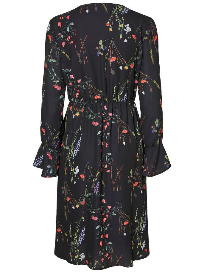 FLOWER DRESS, Black, large