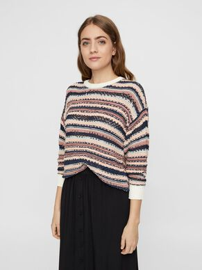 3e73d73ee81974 LONG SLEEVED KNITTED PULLOVER