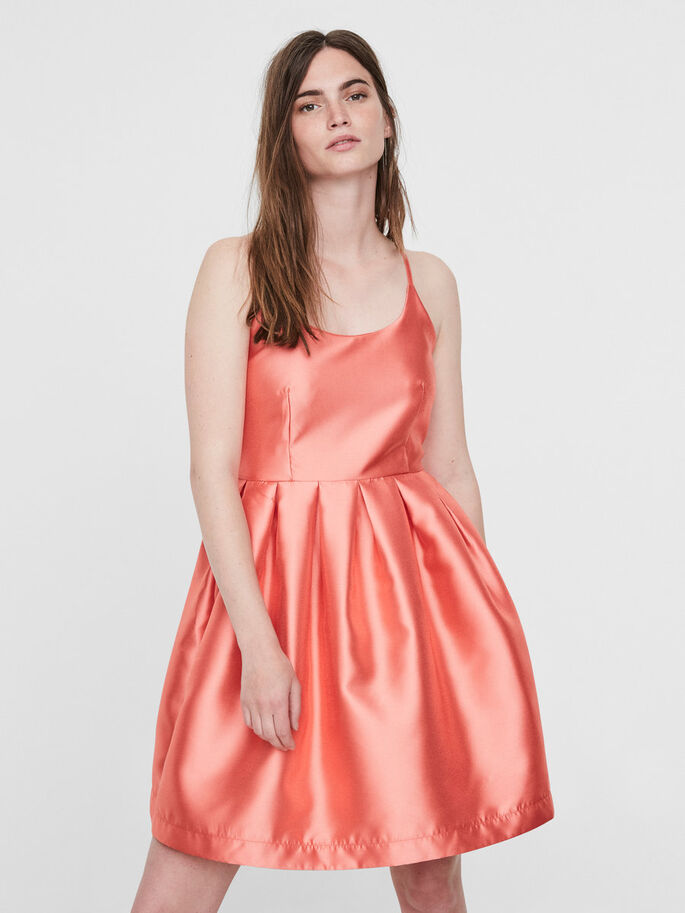 FEMININE PARTY DRESS, Georgia Peach, large