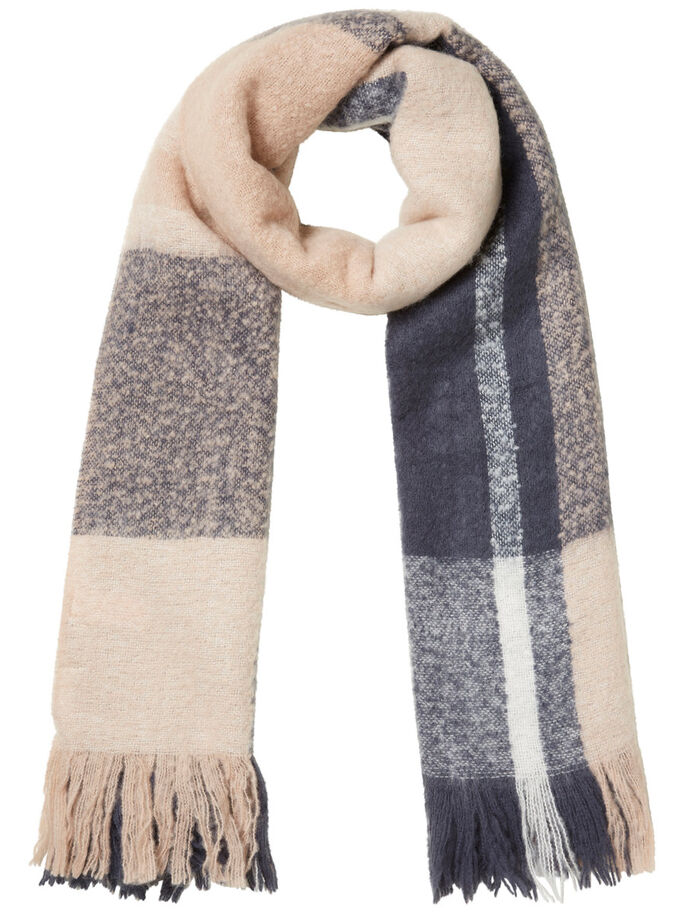 CHEQUERED SCARF, Ombre Blue, large