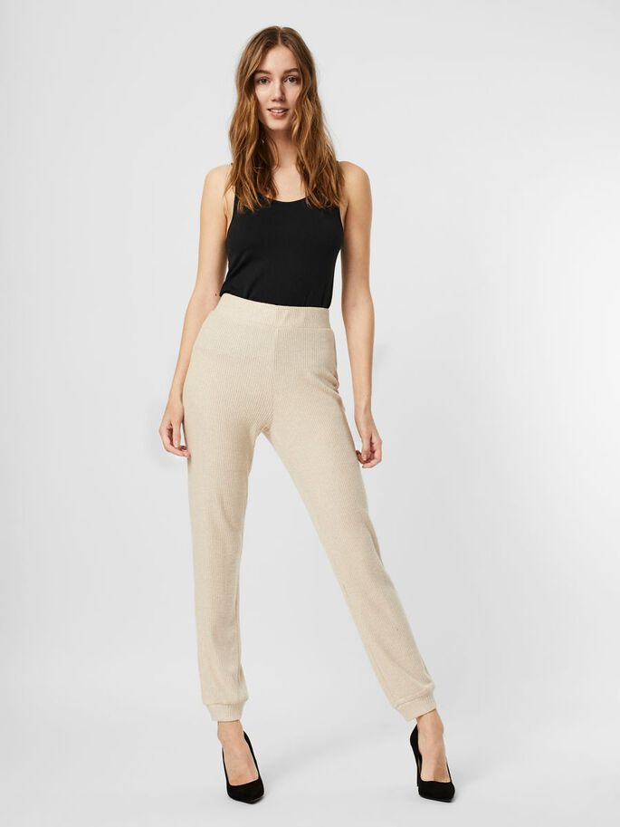HIGH WAIST HOSE, Oatmeal, large
