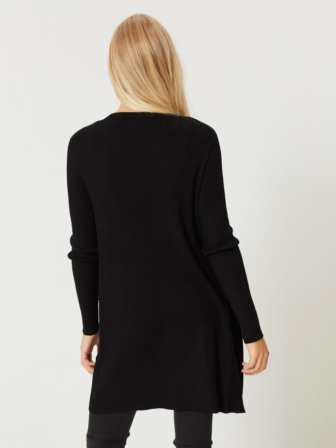 LONG CARDIGAN, Black, large