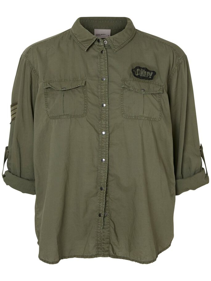 CASUAL LONG SLEEVED SHIRT, Ivy Green, large