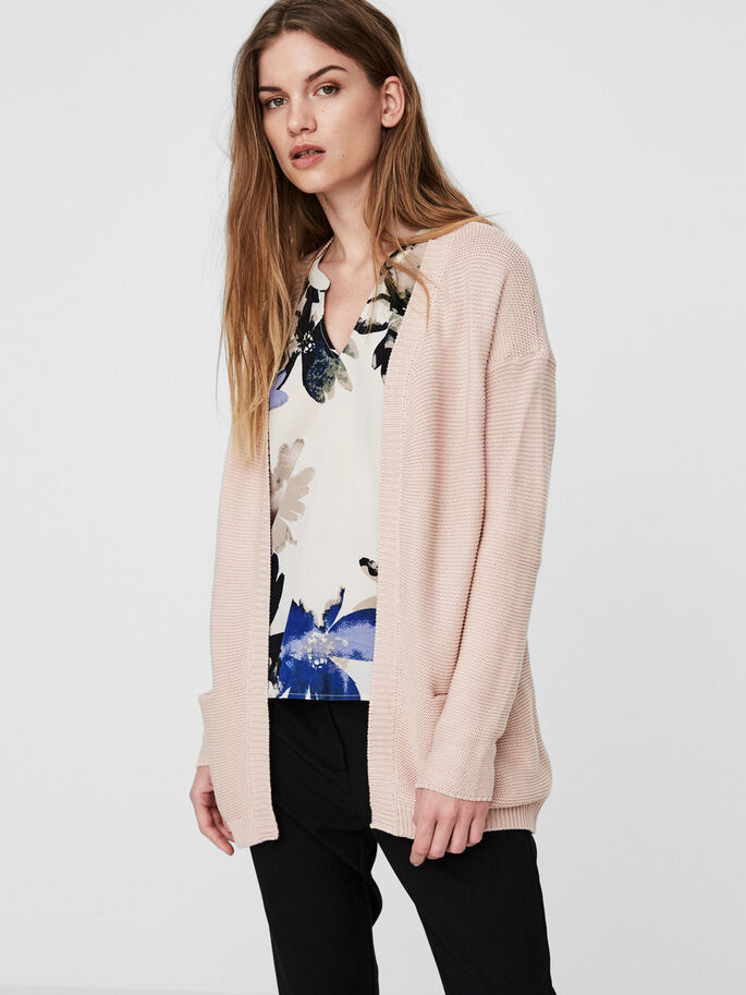 COMFY KNITTED CARDIGAN, Cameo Rose, large