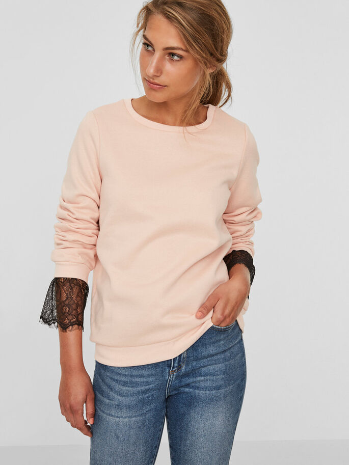 BLONDE SWEATSHIRT, Rose Cloud, large