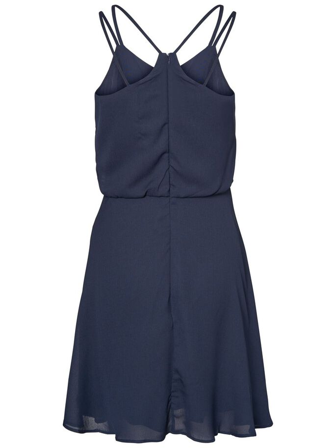 FLOWER SLEEVELESS DRESS, Navy Blazer, large