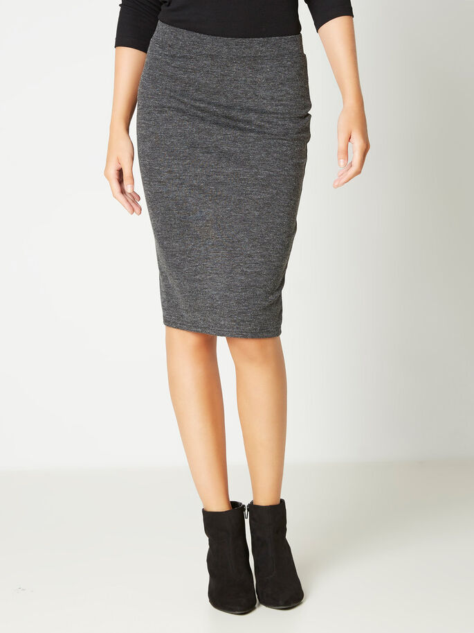 TIGHT FIT ROK, Dark Grey Melange, large