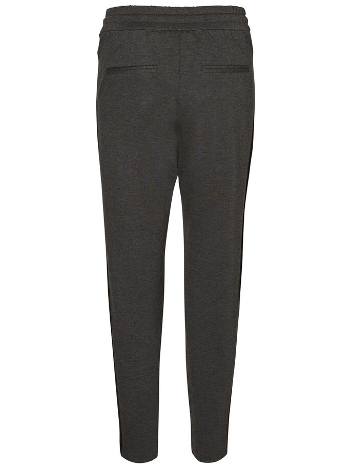 LOOSE FIT ENKEL BROEK, Dark Grey Melange, large