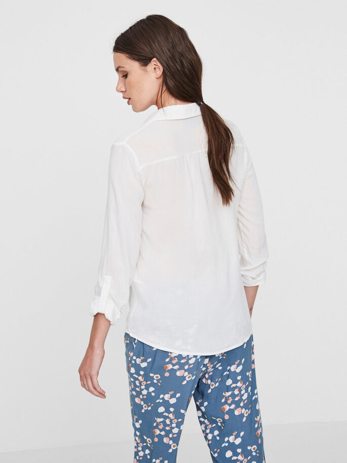 DETAILED LONG SLEEVED SHIRT, Snow White, large