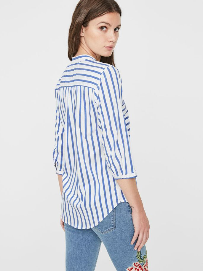 STRIPED 3/4 SLEEVED SHIRT, Surf the Web, large