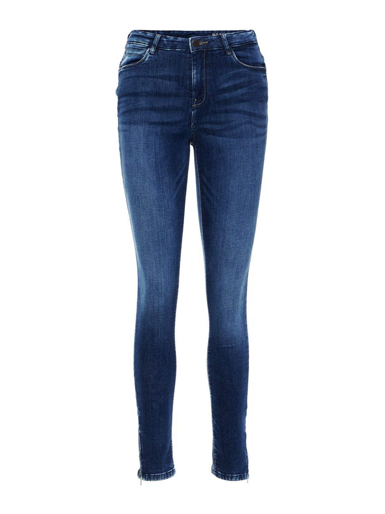 NOISY MAY High Waisted Ankle Slim Fit Jeans Women Blue