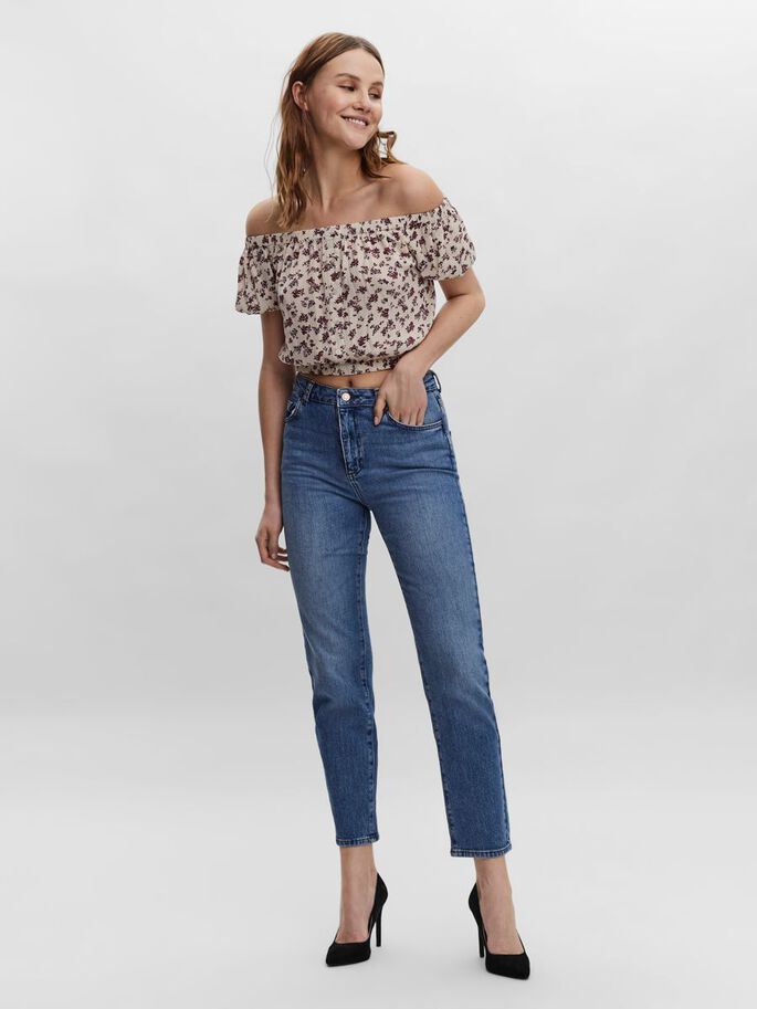KORT OFF-SHOULDER TOP, Oatmeal, large