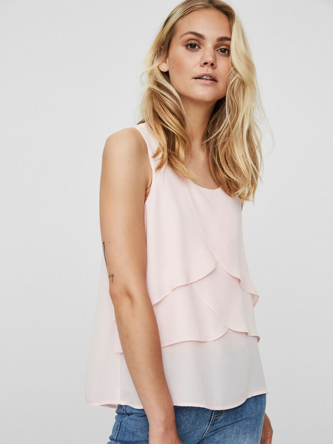 LAYERED SLEEVELESS TOP, Mary'S Rose, large