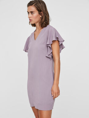 FRILL SHORT SLEEVED DRESS