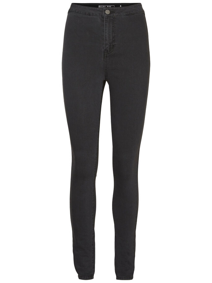 ELLA HW SUPER SKINNY FIT JEANS, Medium Grey Denim, large