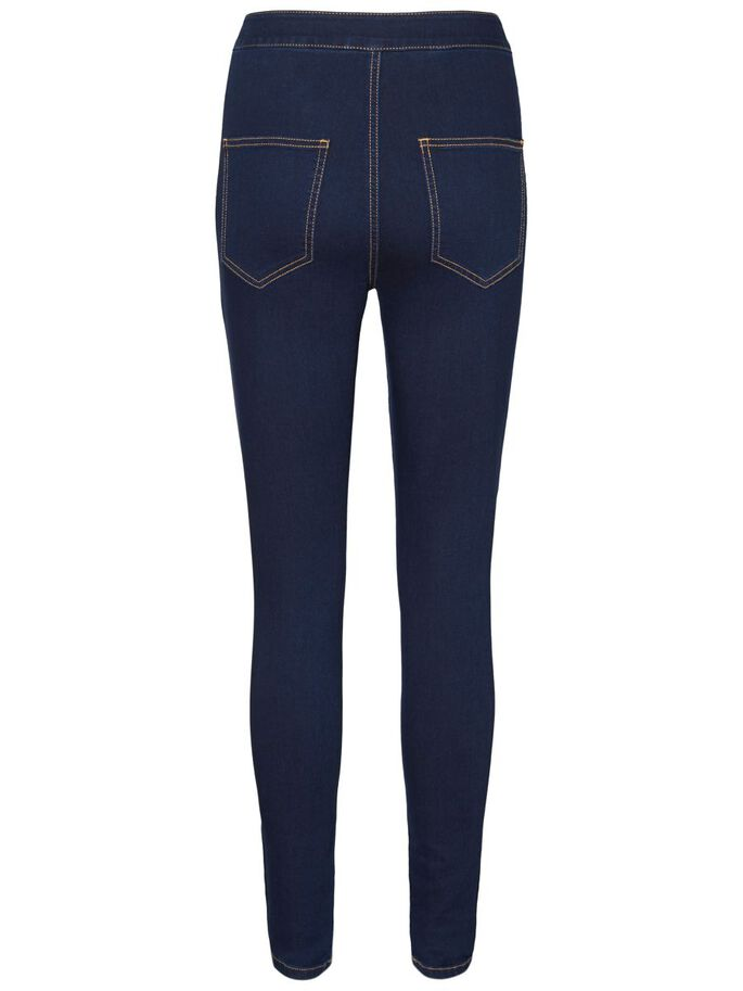 ELLA HW SUPER SKINNY FIT JEANS, Dark Blue Denim, large