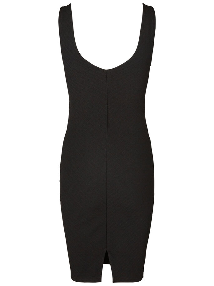 BODYCON SLEEVELESS DRESS, Black, large