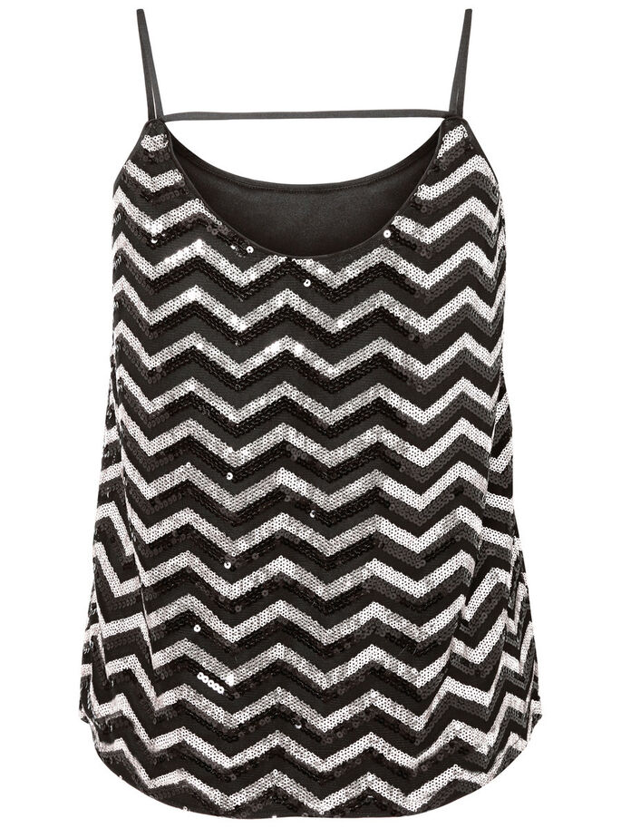 PAILLETTENVERZIERTES TOP, Black, large
