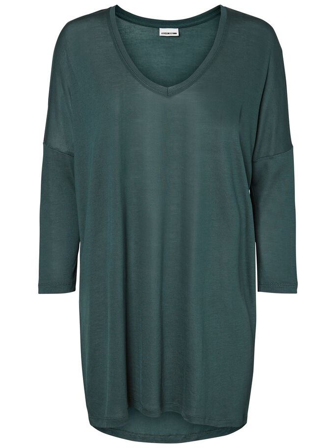 LOOSE FIT 3/4 SLEEVED TOP, Green Gables, large