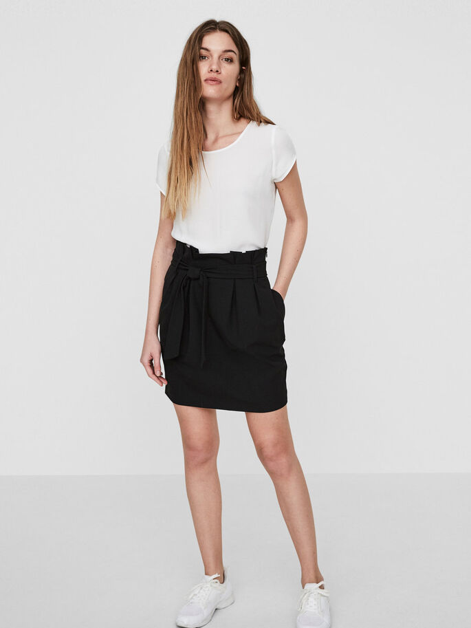SHORT HW SKIRT, Black, large