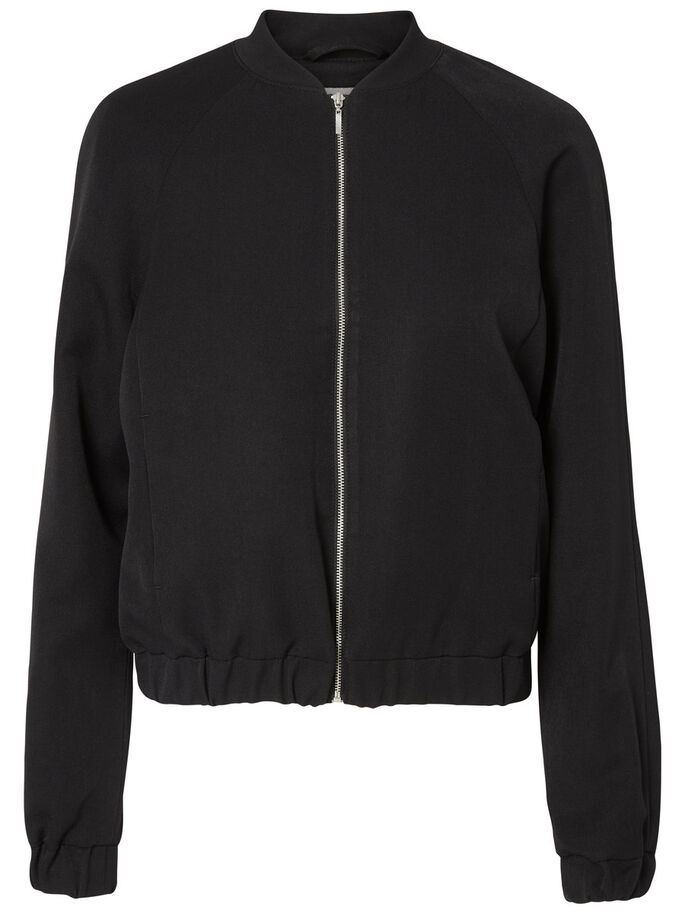 FEMININE SHORT JACKET, Black, large