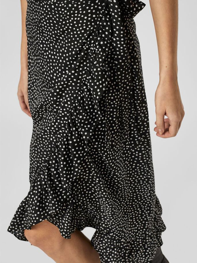 LONG WRAP SKIRT, Black, large