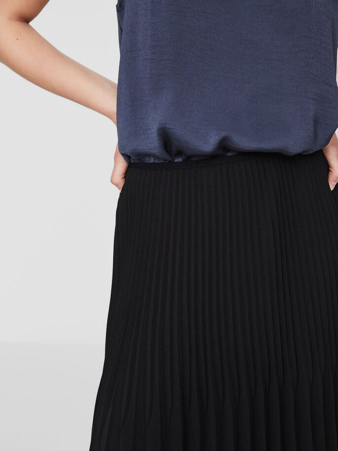 PLEATS SKIRT, Black Beauty, large