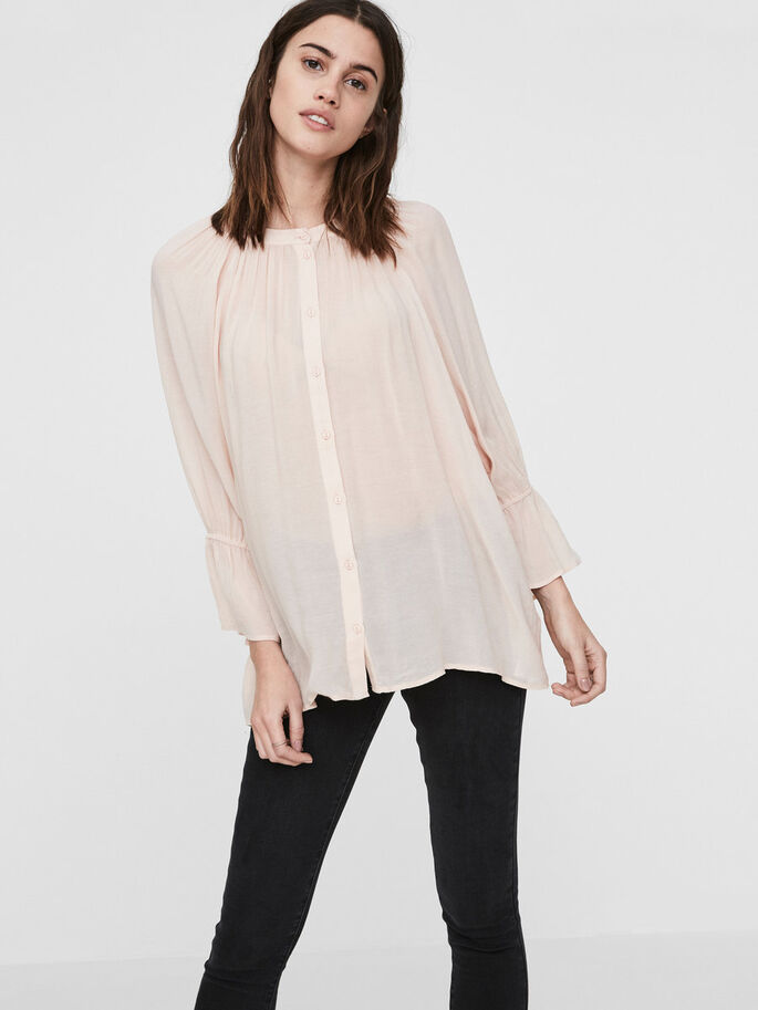 LOOSE FIT OVERHEMD, Cameo Rose, large