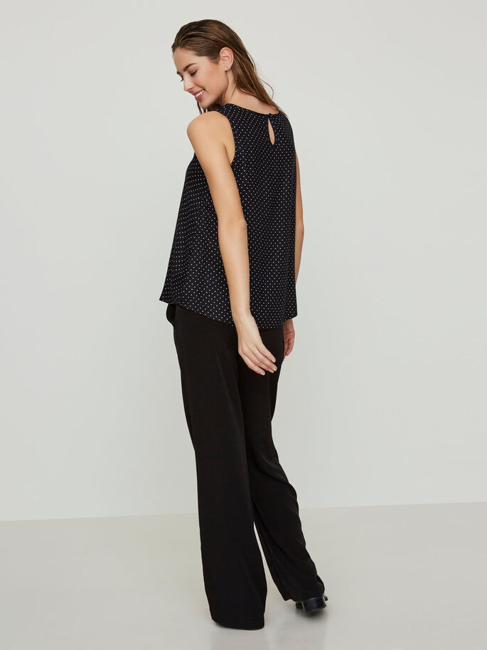 CASUAL SLEEVELESS TOP, Black, large