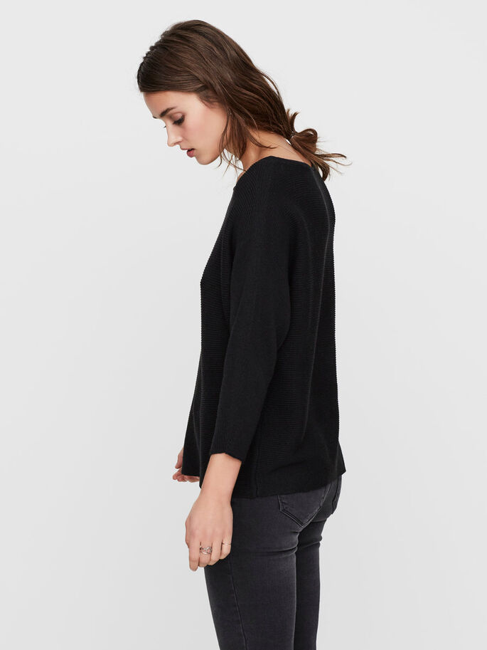 CASUAL BLOUSE MANCHES 3/4, Black Beauty, large