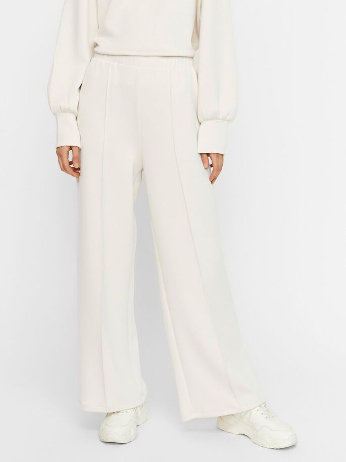 HIGH WAISTED TROUSERS, Moonbeam, large