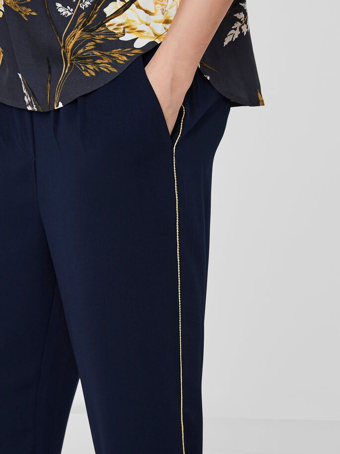 FEMININE ANKLE TROUSERS, Navy Blazer, large