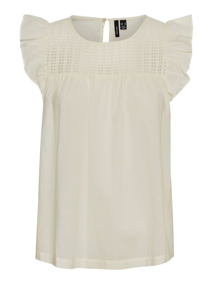 EMBROIDERED SLEEVELESS TOP, Birch, large