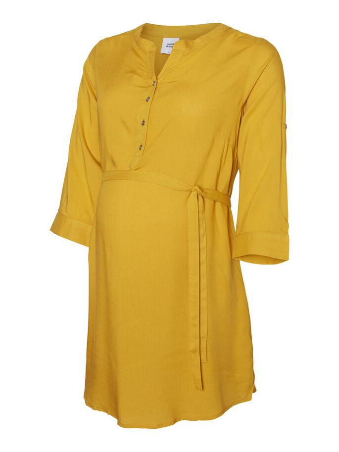 MLMERCY 3/4 SLEEVED MATERNITY TUNIC, Golden Yellow, large