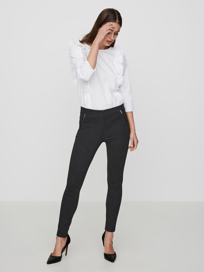 NW ANKLE TROUSERS, Dark Grey Melange, large