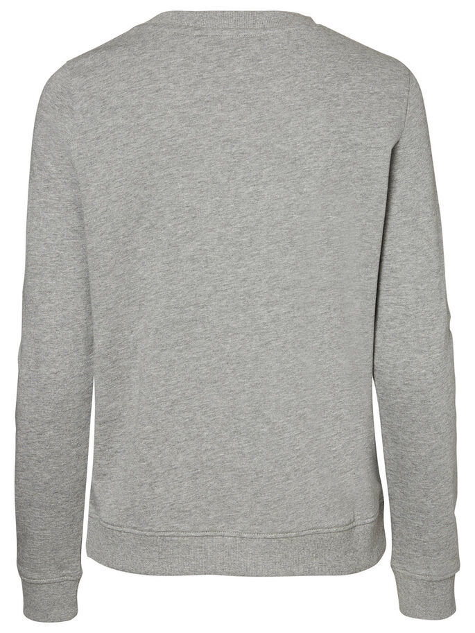 SMILE SWEAT-SHIRT, Light Grey Melange, large